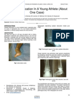 Subtalar Dislocation in a Young Athlete About One Case