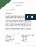 Letter to Pelosi - TARP Debt Reduction - 12 8 09