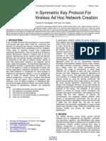A Survey on Symmetric Key Protocol for Spontaneous Wireless Ad Hoc Network Creation