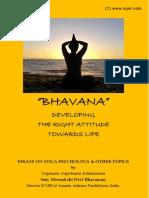 Bhavana - Essays on Yoga Psychology