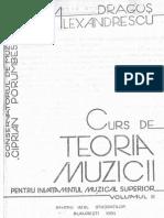 Alexandrescu Dragos Curs de Teoria Muzicii Vol 2