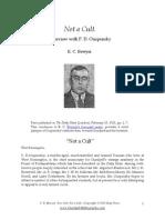 P. D. Ouspensky - Not a Cult