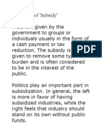 Definition n Effect of trade subsidies