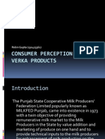 Consumer Perception About Verka Products