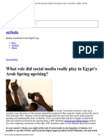 What Role Did Social Med...Media - English - DW