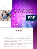 CALCULO y DILUCION DE MEDICAMENTOS.ppt