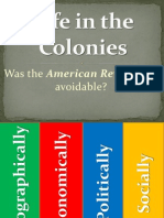 life in the colonies