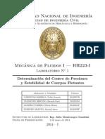 Laboratorio N_1 Determinación del Centro de Presiones y Estabilidad de Cuerpos Flotantes .pdf