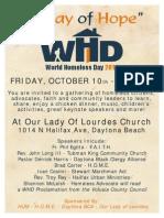 World Homeless Day - Flyer Final Copy