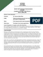 UT Dallas Syllabus for ba3311.007.09f taught by Joylynn Reed (jhr010100)