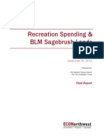 Recreation spending & BLM Sagebrush Lands