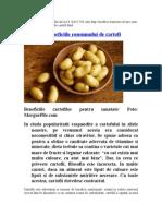 Care Sunt Beneficiile Consumului de Cartofi