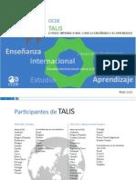 """Estudio Internacional Sobre La Enseñanza y El Aprendizaje"""" (OCDE, 2009)"""