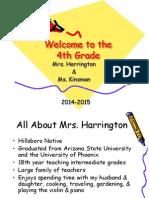 Back to School Night Presentation 2014-2015