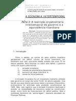 Economia intertemporal_restrição orçamentária