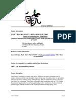 UT Dallas Syllabus for crwt4354.001.09f taught by Gary Swaim (gxs023100)