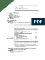 UT Dallas Syllabus for cs4349.501.09f taught by Sergey Bereg (sxb027100)