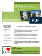 core french 8 course outline