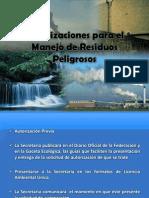 Autorizaciones para el Manejo de Residuos Peligrosos.pptx