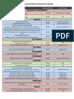 Assessment and Survey Calendars 2014-2015