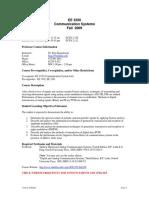 UT Dallas Syllabus for ee3350.001.09f taught by P Rajasekaran (pkr021000)