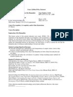 UT Dallas Syllabus for huma1301.003.09f taught by Susan Briante (scb062000)