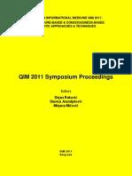 QIM 2011 Symposium E-Proceedings 0