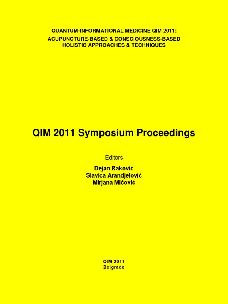 QIM 2011 Symposium E Proceedings 0 Alternative Medicine