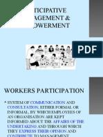 PARTICIPATIVE MANAGEMENT & EMPOWERMENT