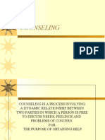 Counseling is a Process Involving a Dynamic Relationship Between Two