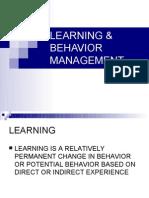 LEARNING & BEHAVIOR MANAGEMENT