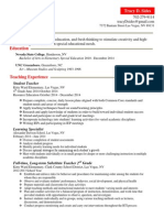 Tracy Sides Teaching Resume