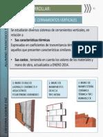 Comparativa sistemas de cerramientos verticales