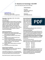 UT Dallas Syllabus for psy2317.501.09f taught by Nancy Juhn (njuhn)
