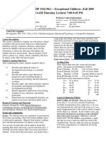 UT Dallas Syllabus for psy3342.501.09f taught by Malcolm Housson (housson)