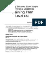 level 1 2 teaching plan