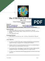 UT Dallas Syllabus for rhet1101.004.09f taught by Cornelia Mccowan (mccowan)