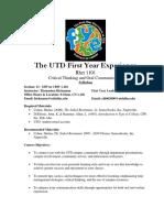 UT Dallas Syllabus for rhet1101.013.09f taught by Thomasina Hickmann (hickmann)