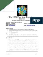 UT Dallas Syllabus for rhet1101.032.09f taught by Leah Nall (lnall)