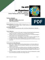 UT Dallas Syllabus for rhet1101.037.09f taught by Thomas Mackenzie (tam036000)