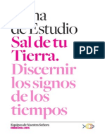 Tema Estudio 2014-2015 Sal de Tu Tierra