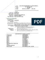 UT Dallas Syllabus for stat4351.501.09f taught by Yuly Koshevnik (yxk055000)