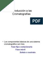Introducción a las Cromatografías