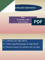 BAB VI Viabilitas Dan Vigor Benih