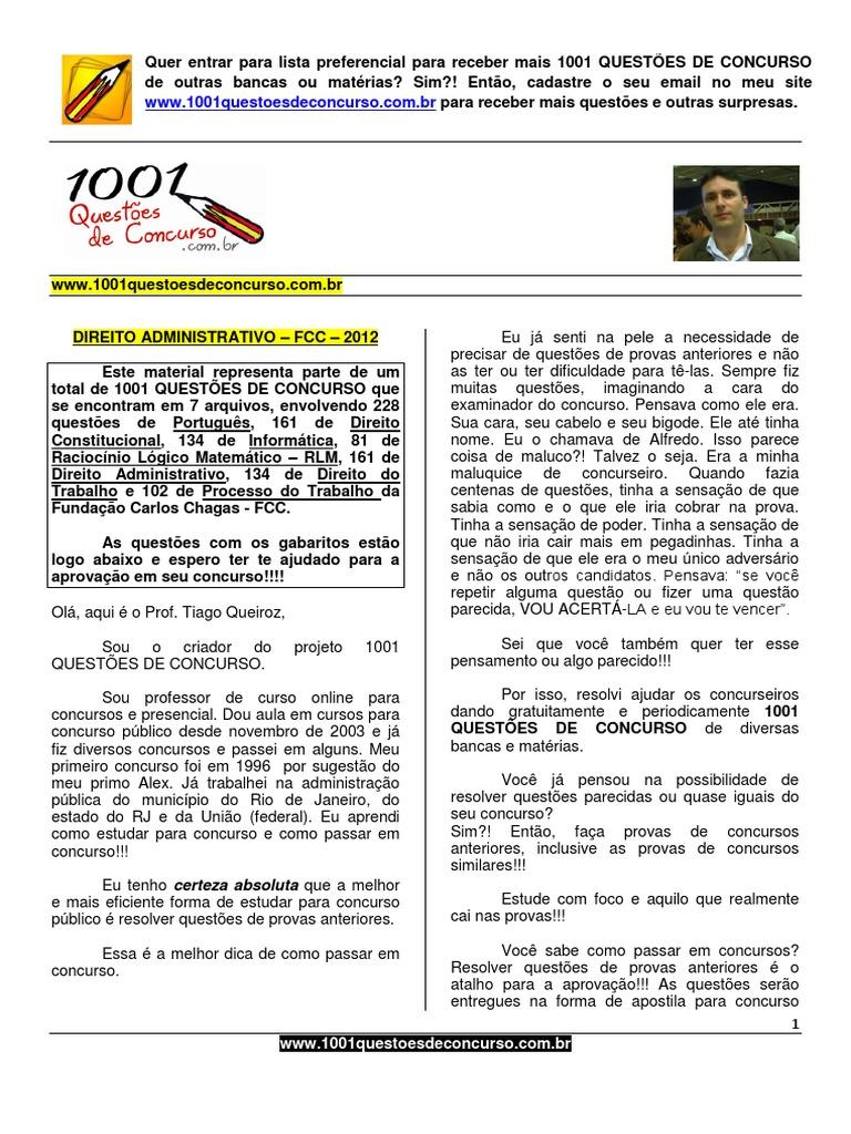 1001 Questoes Comentadas Direito Administrativo Fcc Pdf