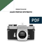 Pentax Spotmatic Service Manual