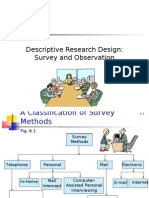 Descriptive Research Design Survey and Observation