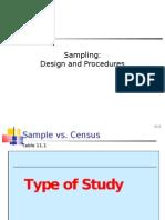 Sampling Design and Procedures