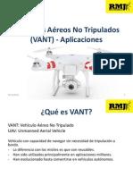 Vehículos Aéreos No Tripulados (VANT) - Aplicaciones.pptx