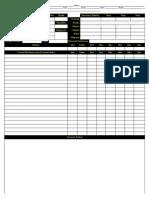 Bleach Character Sheet